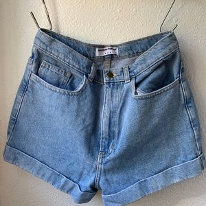 American Apparel denim cuff shorts